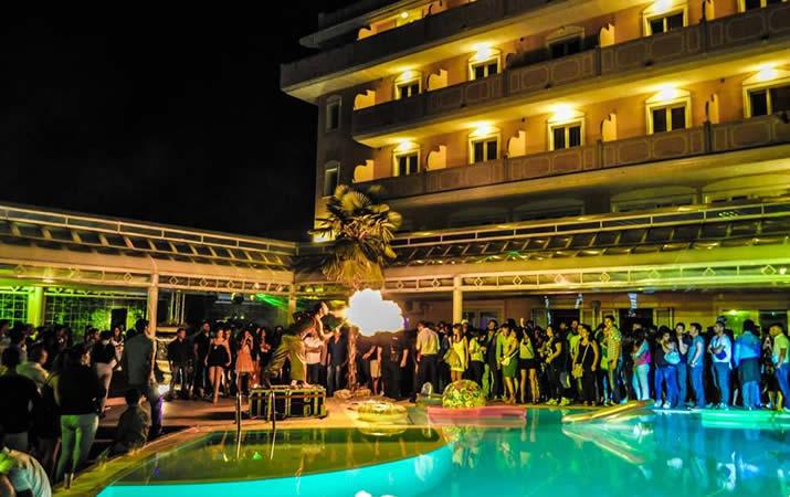 Feste e cerimonie a bordo piscina