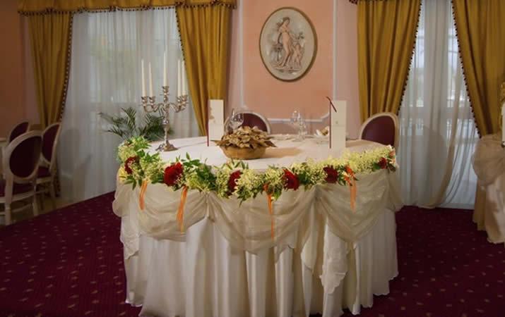 Tavolo sposi ristorante il Danubio